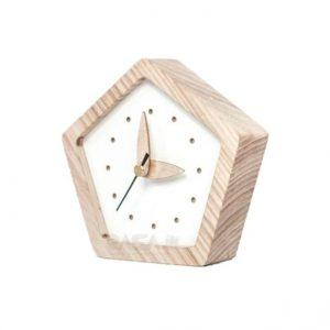 ساعت رومیزی تبلیغاتی چوبی