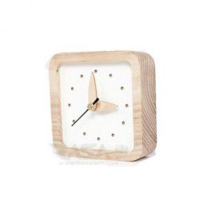 ساعت تبلیغاتی چوبی