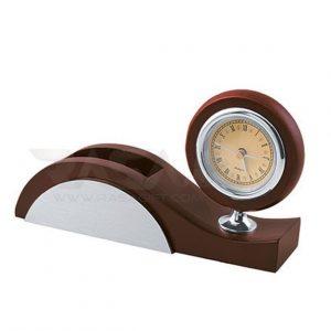 ساعت چوبی رومیزی تبلیغاتی