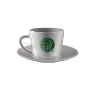 فنجان و نعلبکی شیشه ای تبلیغاتی